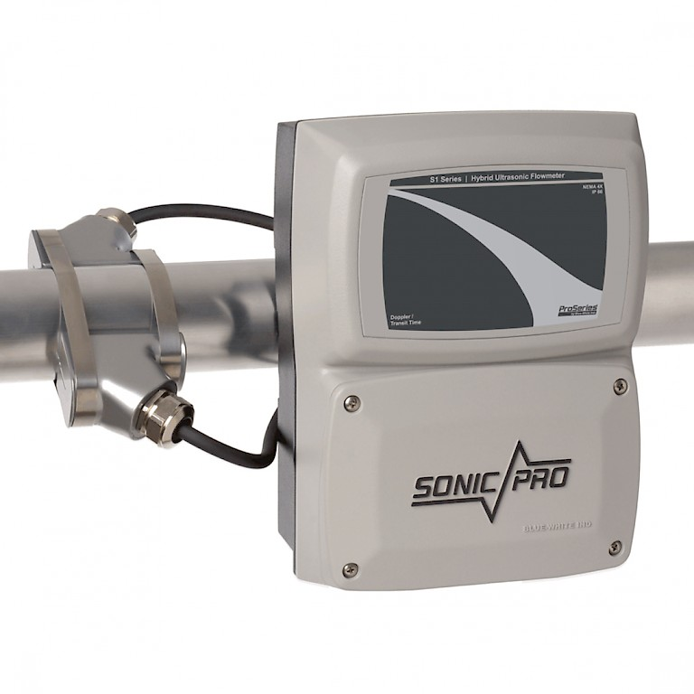 Sonic Pro S1 Clamp On Ultra Sonic Flow Meter with Large Pipe Transducer
