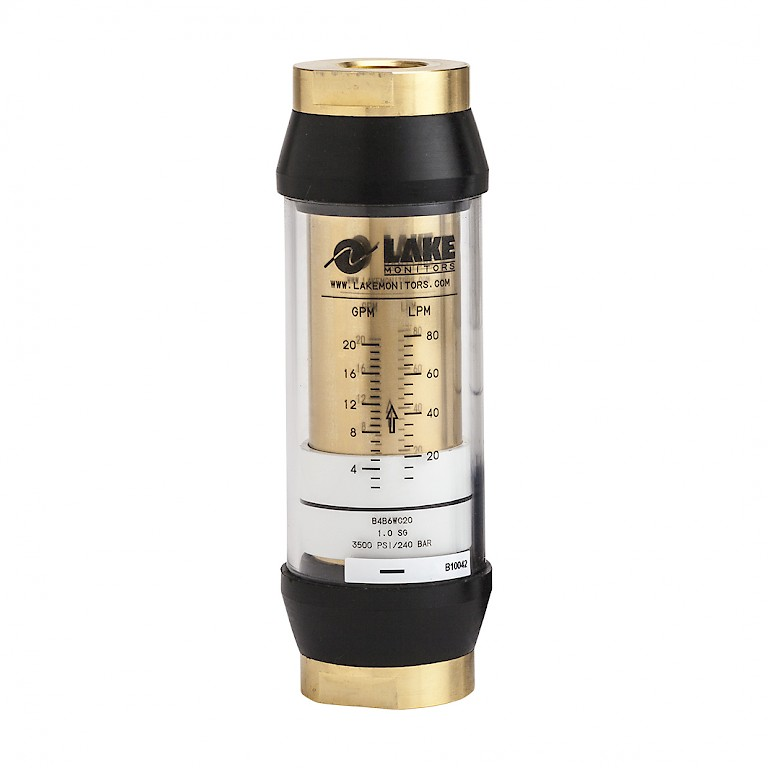 Lake B Series Variable Area Flow Meter for Liquids Brass Body