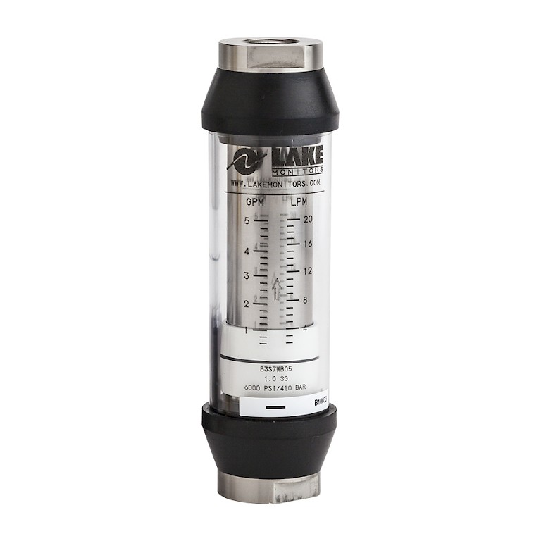 Lake B Series Variable Area Flow Meter for Liquids Stainless Steel Body