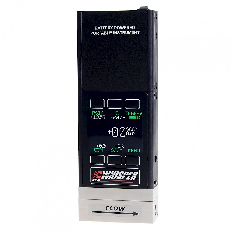 Alicat MWB Whisper Series Portable Mass Flow Meter with Colour TFT display