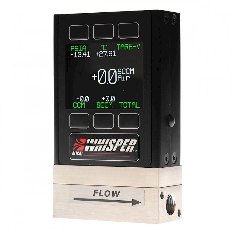 Alicat MW Whisper Series Mass Flow Meter for Low Pressure Drop Applications with Colour TFT display