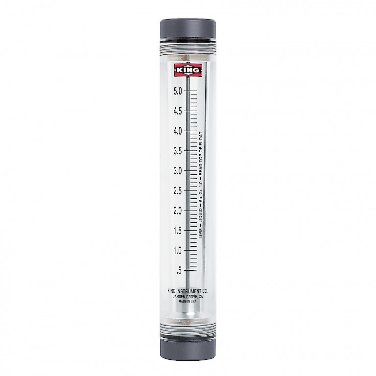 "King Instruments 7200 Series Rotameter for use with Liquids with 1/2"" connections"
