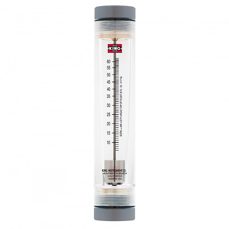 "King Instruments 7200 Series Rotameter for use with Air with 1"" connections"