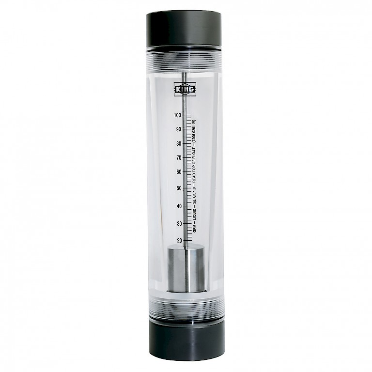 "King Instruments 7200 Series Rotameter for use with Liquids with 2"" connections"