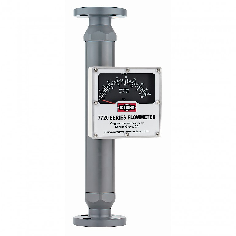 King Instruments 7720 Series Rotameter for use with liquids with 120mm scale