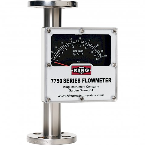 King Instruments 7750 Series rotameter with 250mm end to end length