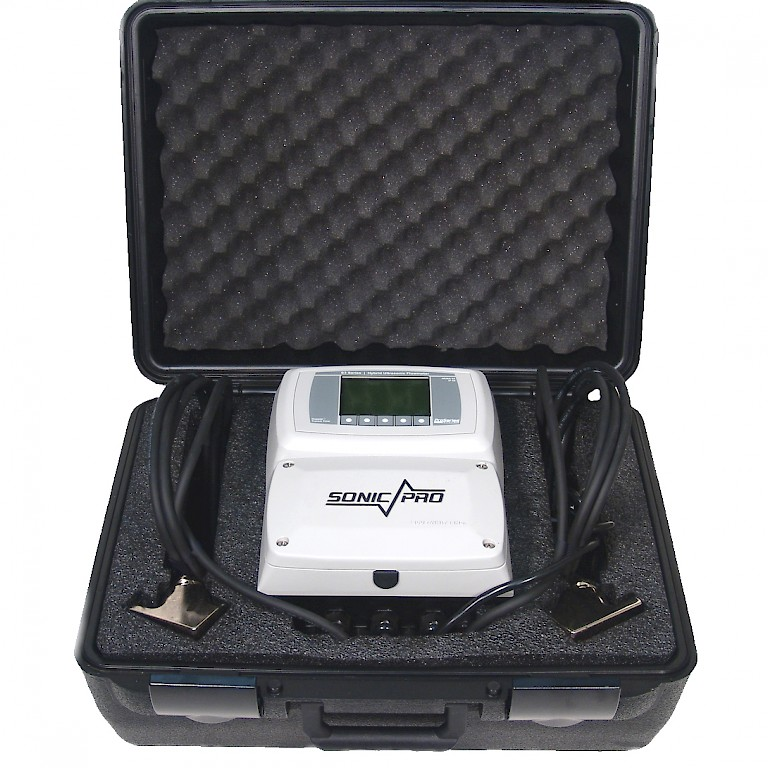 Sonic Pro S3 Clamp On Ultra Sonic Flow Meter in Carry Case