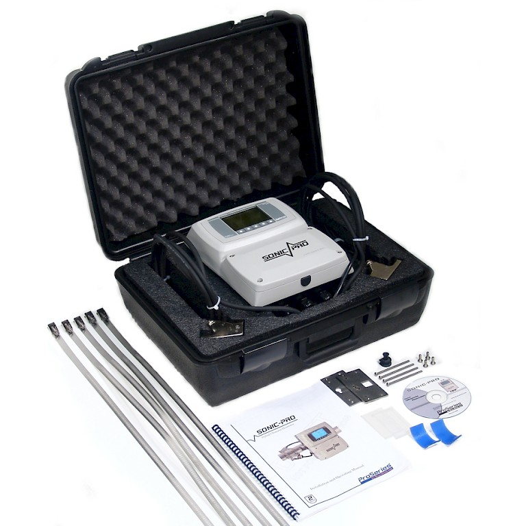 Sonic Pro S3 Clamp On Ultra Sonic Flow Meter in Carry Case with Accessories