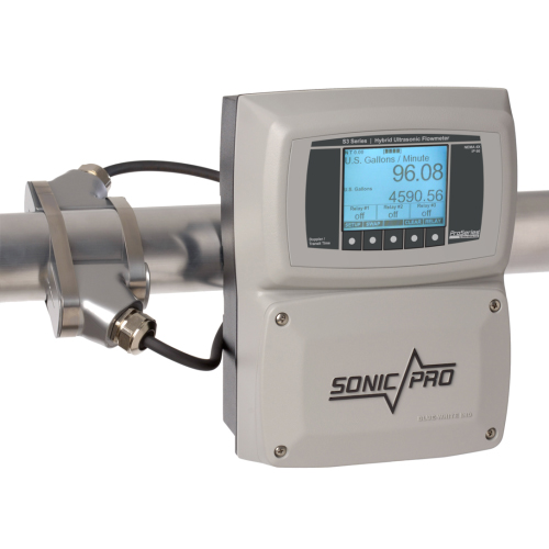 Sonic Pro S3 Clamp On Ultra Sonic Flow Meter with Large Pipe Transducers