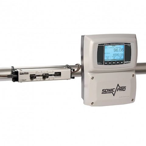Sonic Pro S3 Clamp On Ultra Sonic Flow Meter with Small Pipe Transducers