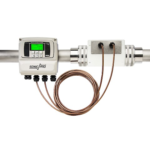 Sonic Pro S4 In Line Ultra Sonic Flow Meter with installed Remote Mount