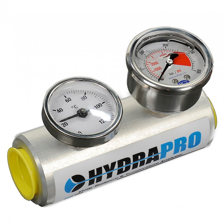 HydraPro Gauge Block with Pressure and Temperature Gauge
