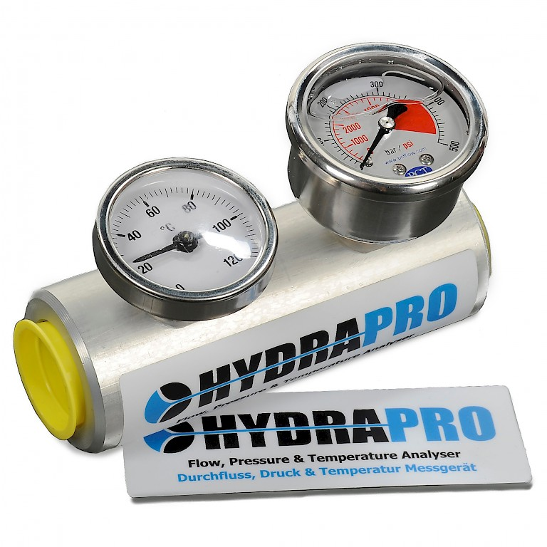 HydraPro Gauge Block with Pressure and Temperature Gauge (2)
