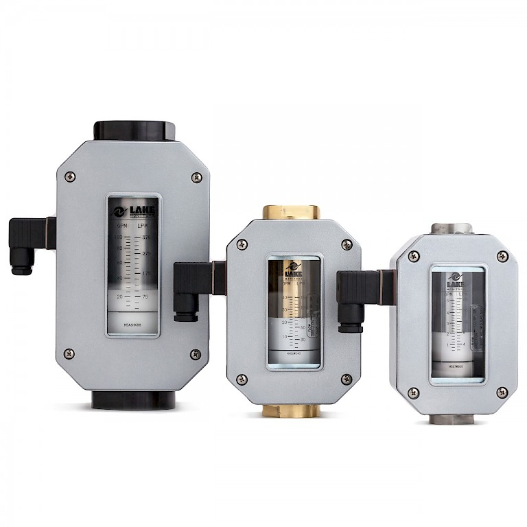 Lake T Series Variable Area Flow Transmitter for Liquids and Gases Group Front