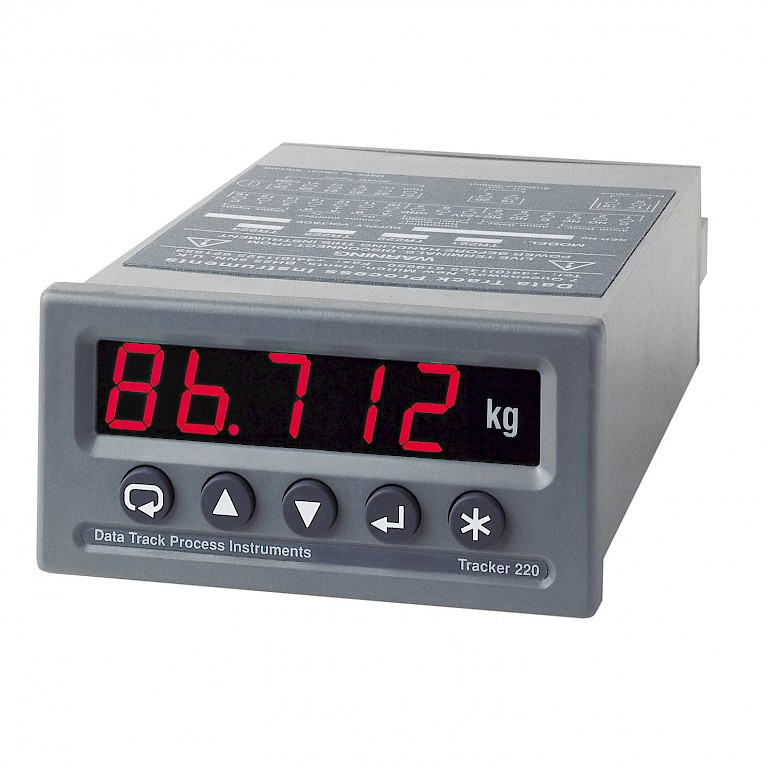 Data Track T220 High Accuracy Universal Input Process and Temperature Panel Meter Front View