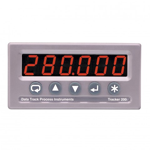 Data Track T280 Dual Input Panel Meter Front