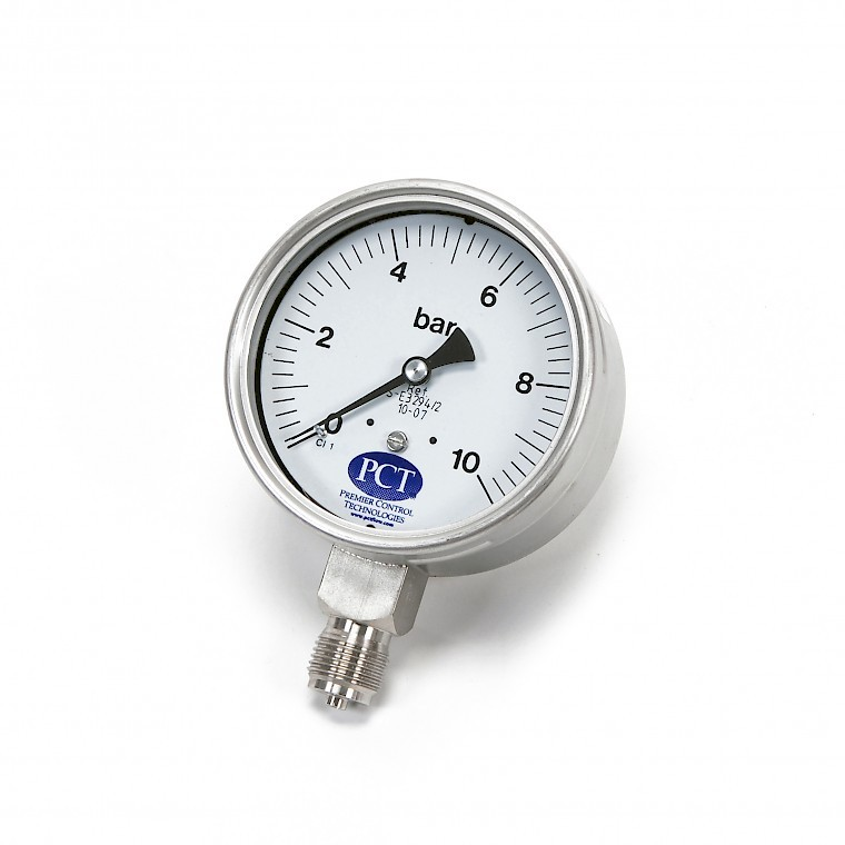 PCT Pressure gauge with 100mm diameter