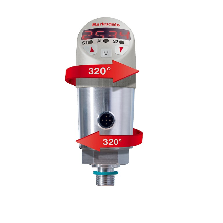 Barksdale BPS3000 Electronic Dual Pressure Switch Front Swivel