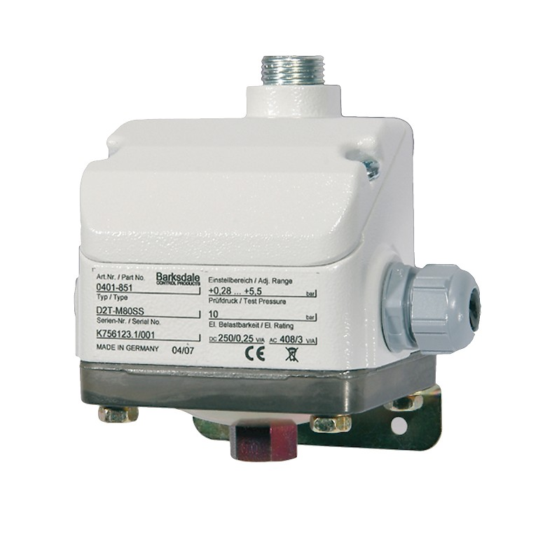 Barksdale D1T D2T Terminal Block Diaphragm Pressure Switch Data Sheet