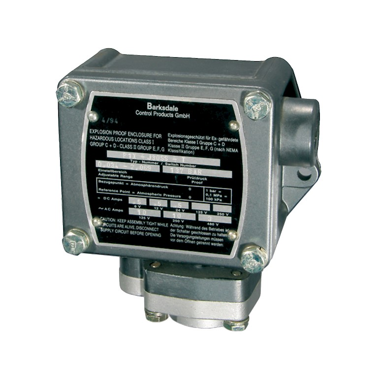 Barksdale P1X Series Explosion Proof Pressure Switch