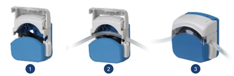 Tube loading Flip Type Peristaltic Pump Head